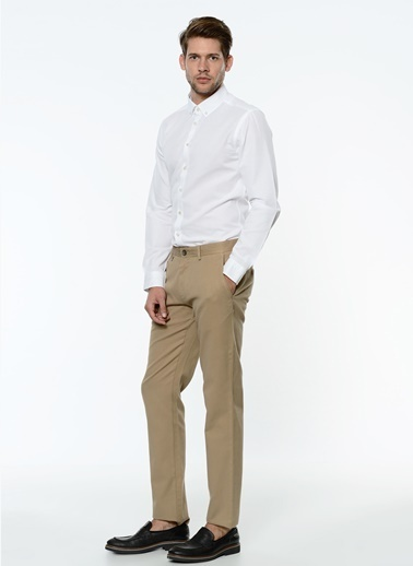 George Hogg Slim Fit Chino Pantolon Camel